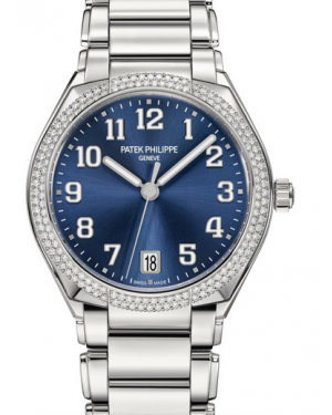 Patek Philippe Twenty~4 Ladies Blue Sunburst Arabic Dial Diamond Bezel Stainless Steel Bracelet 36mm 7300/1200A-001 - BRAND NEW
