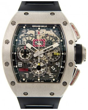 """Richard Mille """"Felipe Massa"""" Titanium Skeleton Dial Rubber Strap RM011 - BRAND NEW"""