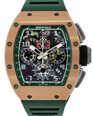 "Richard Mille Flyback Chronograph ""Le Mans"" Rose Gold/Titanium Skeleton Dial Rubber RM011"