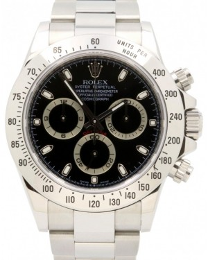 Rolex Daytona 116520 Black Index Stainless Steel Oyster Men's 40mm BOX/PAPERS