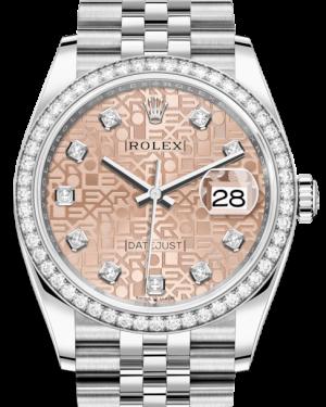Rolex Datejust 36 White Gold/Steel Pink Jubilee Diamond Dial & Diamond Bezel Jubilee Bracelet 126284RBR - BRAND NEW