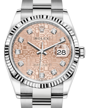 Rolex Datejust 36 White Gold/Steel Pink Jubilee Diamond Dial & Fluted Bezel Oyster Bracelet 126234 - BRAND NEW