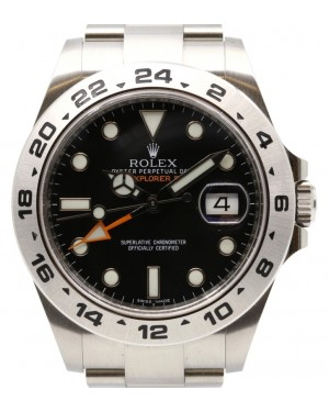"Rolex Explorer II ""Steve McQueen"" Stainless Steel Black 42mm Dial GMT Oyster Bracelet 216570 - PRE-OWNED"