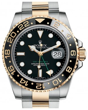Rolex GMT-Master II Yellow Gold/Steel Black Dial & Ceramic Bezel Oyster Bracelet 116713LN - BRAND NEW