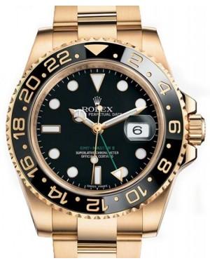 Rolex GMT-Master II Yellow Gold Black Dial & Black Ceramic Bezel Oyster Bracelet 116718LN - BRAND NEW