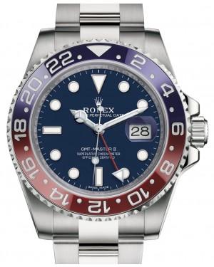 Rolex GMT-Master II White Gold Blue Dial & Red/Blue Ceramic Bezel Oyster Bracelet 116719BLRO - PRE-OWNED