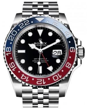 "Rolex GMT-Master II ""Pepsi"" Steel Black Dial & Red/Blue Ceramic Bezel Jubilee Bracelet 126710BLRO - BRAND NEW"