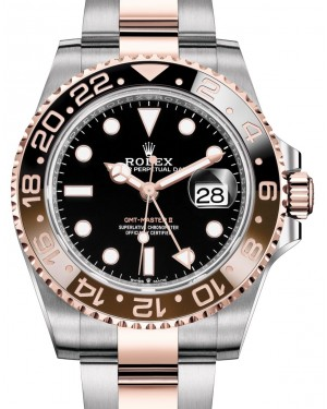 "Rolex GMT-Master II ""Root Beer"" Rose Gold/Steel Black Dial Black/Brown Ceramic Bezel 126711CHNR - BRAND NEW"
