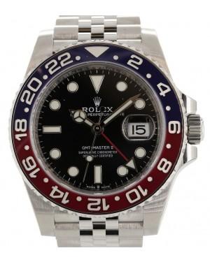 "Rolex GMT-Master II ""Pepsi"" Steel Black Dial & Red/Blue Ceramic Bezel Jubilee Bracelet 126710BLRO - PRE-OWNED"