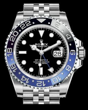 """Rolex GMT-Master II """"Batgirl"""" Stainless Steel Black Dial & Blue/Black Ceramic Bezel Jubilee Bracelet 126710BLNR - BRAND NEW"""