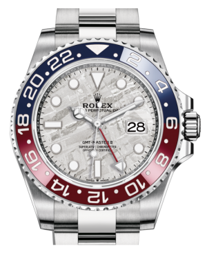 Rolex GMT-Master II White Gold Meteorite Luminous Dial & Red/Blue Ceramic Bezel Oyster Bracelet 126719BLRO - BRAND NEW