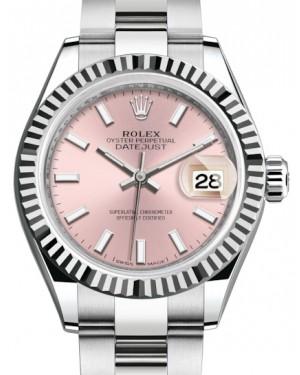 Rolex Lady Datejust 28 White Gold/Steel Pink Index Dial & Fluted Bezel Oyster Bracelet 279174 - BRAND NEW