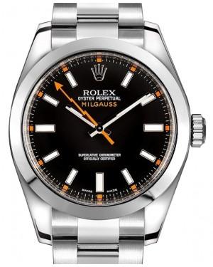 Rolex Milgauss 116400 116400BKO Black Index 40mm Stainless Steel BRAND NEW