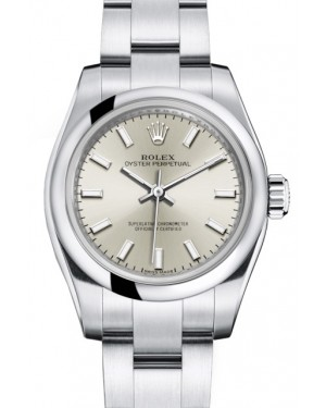 Rolex Oyster Perpetual 26 Ladies Stainless Steel Silver Index Dial Smooth Bezel & Oyster Bracelet 176200 - BRAND NEW