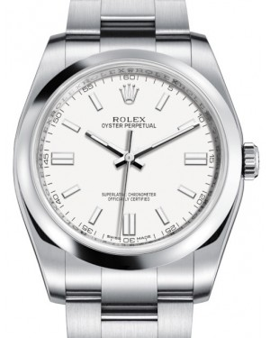 Rolex Oyster Perpetual 36 Stainless Steel White Index Dial & Domed Bezel Oyster Bracelet 116000 - BRAND NEW