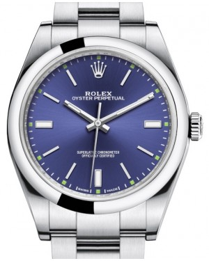Rolex Oyster Perpetual 39 Stainless Steel Blue Index Dial & Smooth Bezel Oyster Bracelet 114300 - BRAND NEW