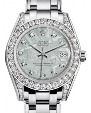 Rolex Pearlmaster 34 White Gold Meteorite Diamond Dial & Diamond Set Case & Bezel Pearlmaster Bracelet 81159 - BRAND NEW