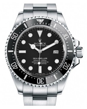 Rolex Sea-Dweller 4000 Stainless Steel Black Maxi Dial & Ceramic Bezel Oyster Bracelet 40mm 116600 - BRAND NEW