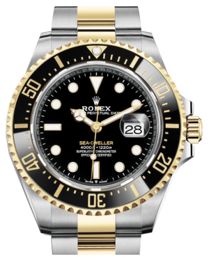 Rolex Sea-Dweller 43mm Case Yellow Gold/Steel Black Luminous Dial & Ceramic Bezel Oyster Bracelet 126603 - BRAND NEW