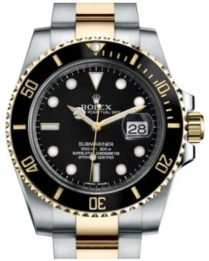 Rolex Submariner Date Yellow Gold/Steel Black Dial & Ceramic Bezel Oyster Bracelet 116613LN - BRAND NEW