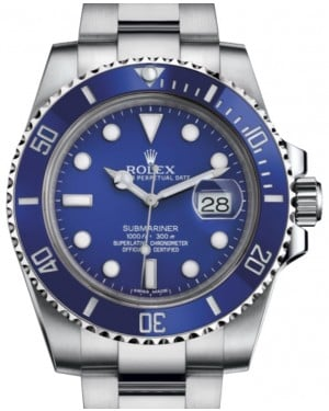 Rolex Submariner Date White Gold Blue Dial & Ceramic Bezel Oyster Bracelet 116619LB - BRAND NEW