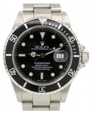 Rolex Submariner Date Stainless Steel Black Dial & Aluminum Bezel Oyster Bracelet 16610 - PRE-OWNED