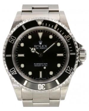 Rolex Submariner No Date Stainless Steel Black Dial & Aluminum Bezel Oyster Bracelet 14060 - PRE-OWNED
