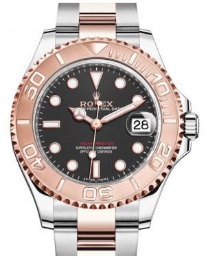Rolex Yacht-Master 37 Rose Gold/Steel Black Dial Gold Bezel Oyster Bracelet 268621 - BRAND NEW