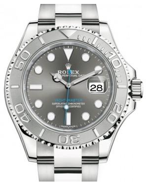 Rolex Yacht-Master 40 Stainless Steel Dark Rhodium Dial Platinum Bezel Oyster Bracelet 116622 - BRAND NEW