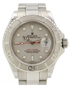 Rolex Yacht-Master Stainless Steel Silver Dial & Platinum Bezel Oyster Bracelet 16622 - PRE-OWNED