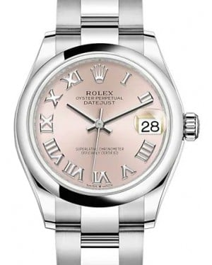 Rolex Datejust 31 Stainless Steel Pink Roman Dial & Domed Bezel Oyster Bracelet 278240 - BRAND NEW