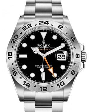 Rolex Explorer II GMT Stainless Steel Black Dial 42mm Oyster Bracelet 226570 - NEW RELEASE 2021 - BRAND NEW
