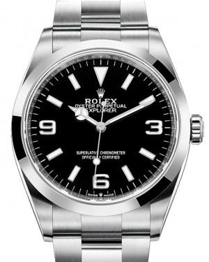 Rolex Explorer I Stainless Steel Black Arabic Index 36mm Oyster Bracelet 124270 - BRAND NEW 2021