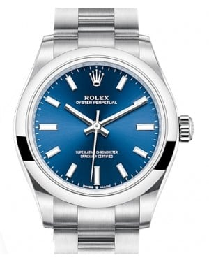 Rolex Oyster Perpetual 31 Stainless Steel Blue Index Dial & Smooth Bezel Oyster Bracelet 277200 - BRAND NEW