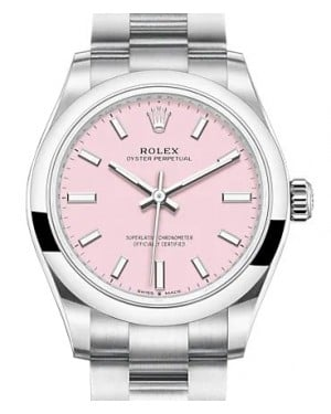 Rolex Oyster Perpetual 31 Stainless Steel Candy Pink Index Dial & Smooth Bezel Oyster Bracelet 277200 - BRAND NEW