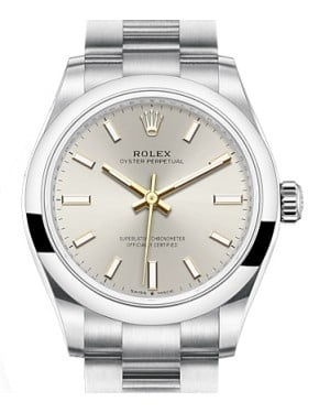 Rolex Oyster Perpetual 31 Stainless Steel Silver Index Dial & Smooth Bezel Oyster Bracelet 277200 - BRAND NEW