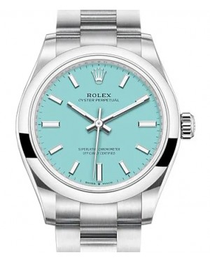 Rolex Oyster Perpetual 31 Stainless Steel Turquoise Index Dial & Smooth Bezel Oyster Bracelet 277200 - BRAND NEW