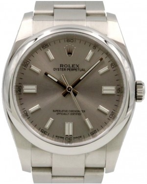 Rolex Oyster Perpetual 36 Stainless Steel Silver Index Dial & Domed Bezel Oyster Bracelet 116000 - PRE-OWNED