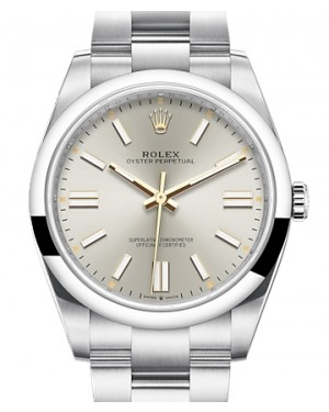 Rolex Oyster Perpetual 41 Stainless Steel Silver Index Dial & Smooth Bezel Oyster Bracelet 124300 - BRAND NEW