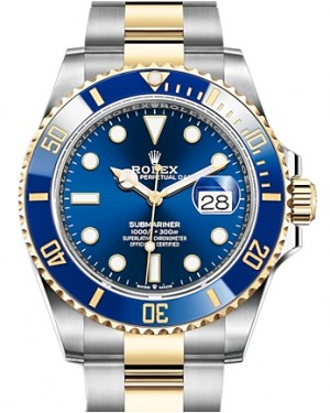 Rolex Submariner Date Yellow Gold/Steel Blue 41mm Dial & Ceramic Bezel Oyster Bracelet 126613LB - BRAND NEW