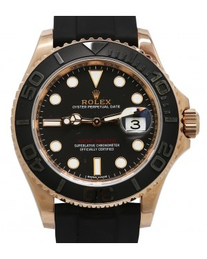 Rolex Yacht-Master 40 Rose Gold 116655 Everose 18k Black Ceramic Oysterflex - PRE-OWNED
