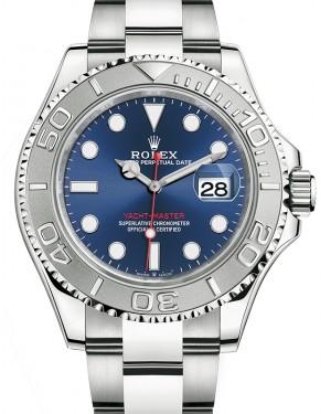 Rolex Yacht-Master 40 Stainless Steel Blue Dial Platinum Bezel Oyster Bracelet 126622 - BRAND NEW