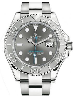 Rolex Yacht-Master 40 Stainless Steel Dark Rhodium Dial Platinum Bezel Oyster Bracelet 126622 - BRAND NEW