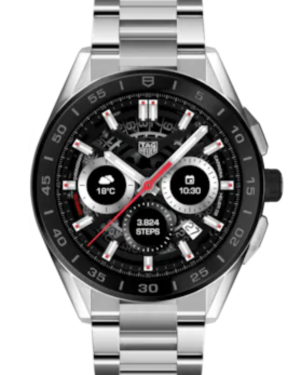Tag Heuer Connected Stainless Steel Black Index Dial & Stainless Steel Bracelet SBG8A10.BA0646 - BRAND NEW