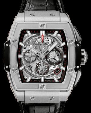 Hublot Spirit of Big Bang Titanium Skeleton 42mm Dial Bezel Leather Strap 42mm 641.NX.0173.LR - BRAND NEW