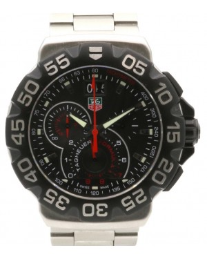 TAG Heuer Formula 1 Grande CAH1010.BA0854 Black Index Stainless Steel Quartz 44mm - PRE-OWNED