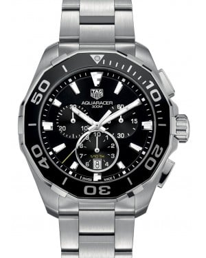 Tag Heuer Aquaracer Stainless Steel Black Index Dial & Stainless Steel Bracelet CAY111A.BA0927 - BRAND NEW