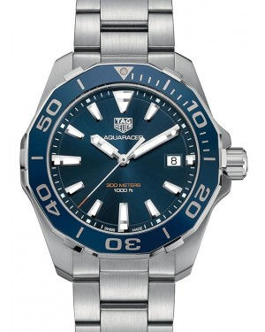 Tag Heuer Aquaracer Stainless Steel Blue Index Dial & Stainless Steel Bracelet WAY111C.BA0928 - BRAND NEW