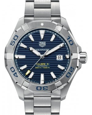Tag Heuer Aquaracer Stainless Steel Blue Index Dial & Stainless Steel Bracelet WAY2012.BA0927 - BRAND NEW