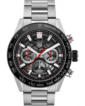 Tag Heuer Carrera Stainless Steel Black Index Dial & Stainless Steel Bracelet CBG2A10.BA0654 - BRAND NEW